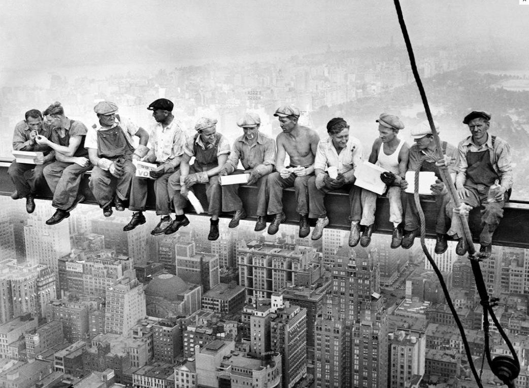Lunch Atop Skyscraper New York Construction Workers