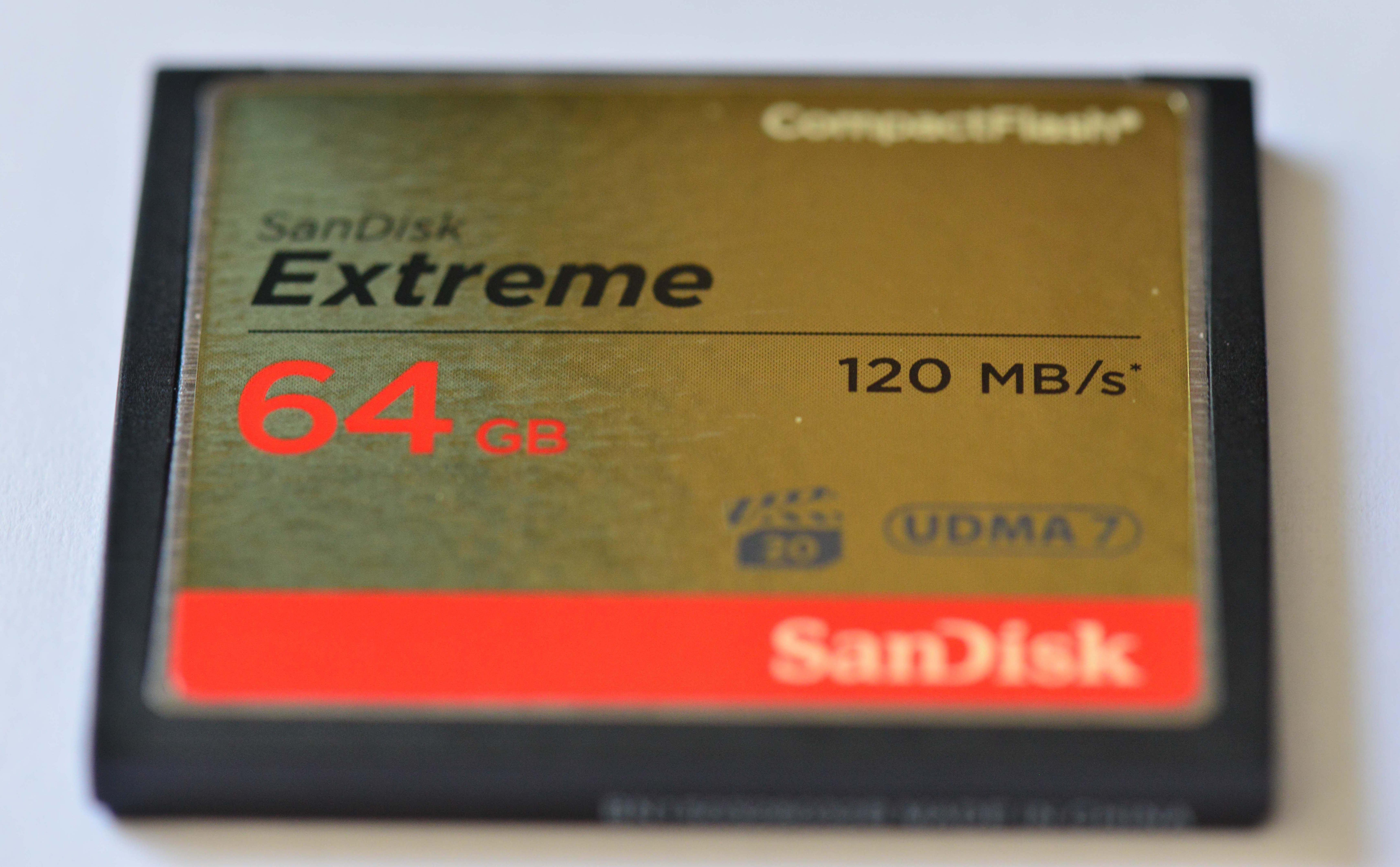SanDisk Compact Flash 64Go, 120MB/s
